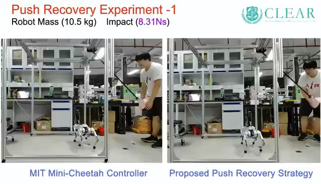 New Push Recovery Strategy for Quadruped